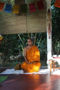 Meditation class with Buddhist Monk