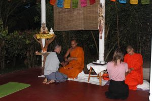 Meditation class with Buddhist Monk